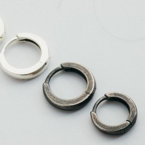 Solid Silver earrings for men