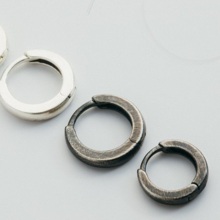 Solid Silver earrings for men