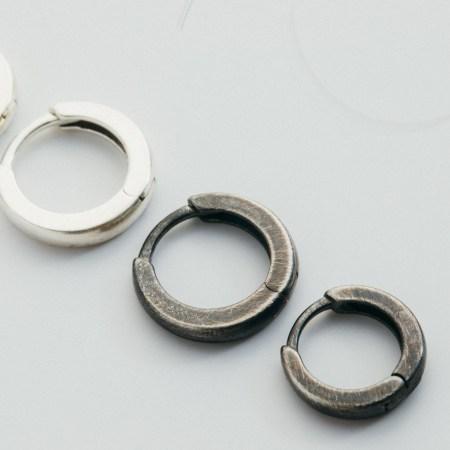 Sterling Silver Huggie Hoops