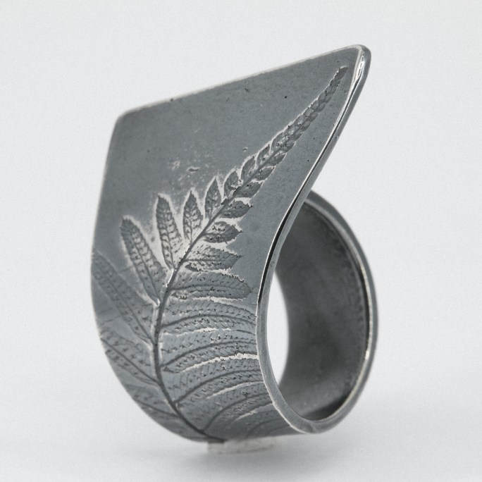Woodland sterling silver ring