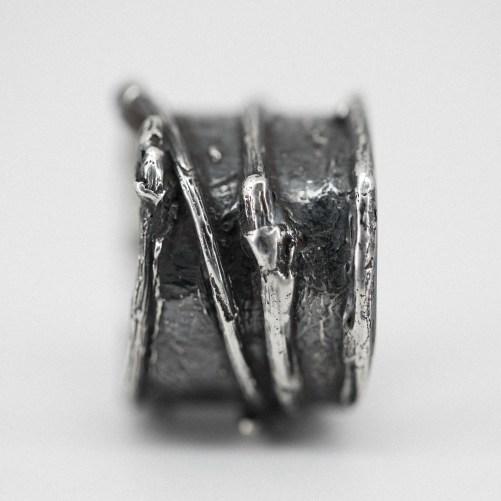 Oxidized Rustic Twig Ring