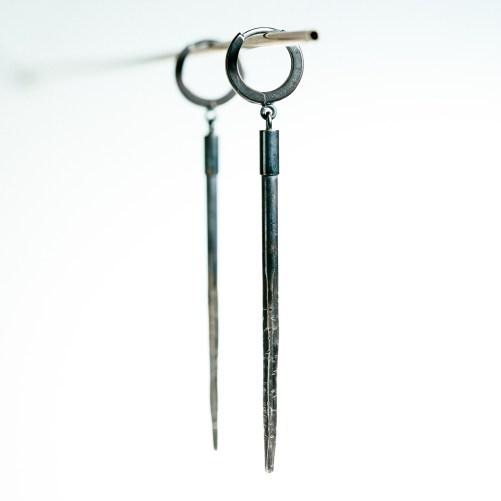 Raw sterling earrings