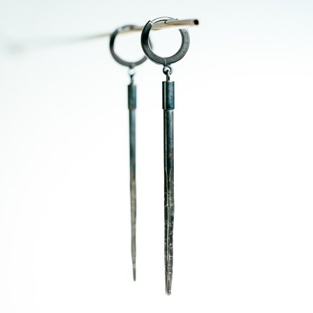 Raw sterling earrings