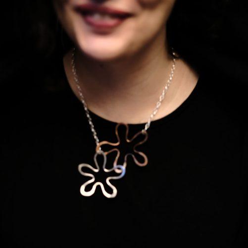 Oversized flower necklace