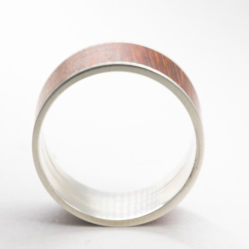 Stabilized wood ring