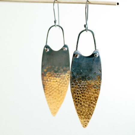 Statement silver and gold earrings