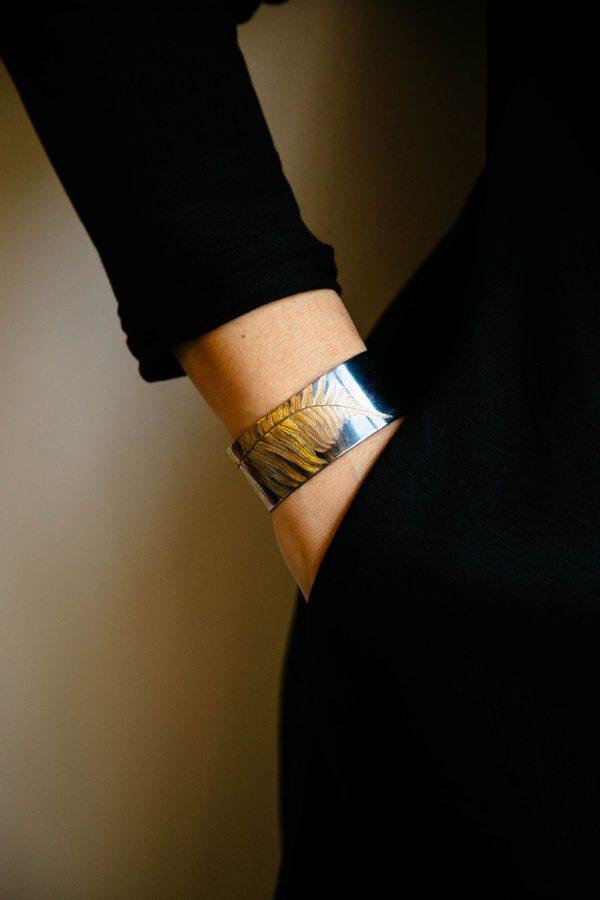 Oxidized wide cuff bracelet