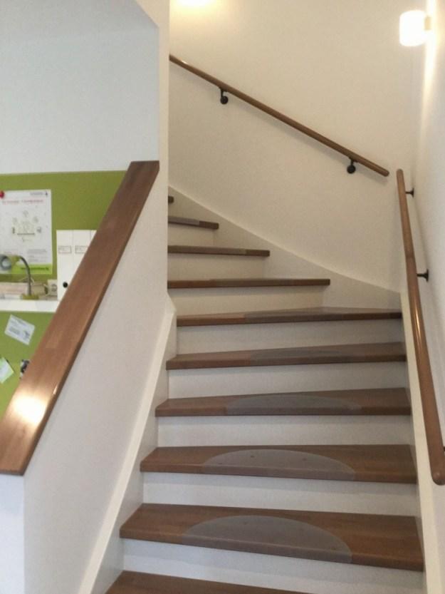 Treppe in einem Hanse Haus Musterhaus