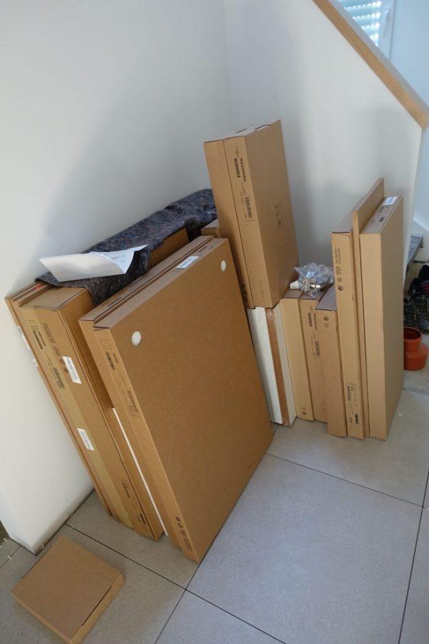 Ein Teil der Küchen Kartons