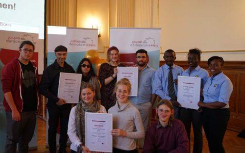 Juko MV nimmt Jugenddemokratiepreis in Bonn entgegen