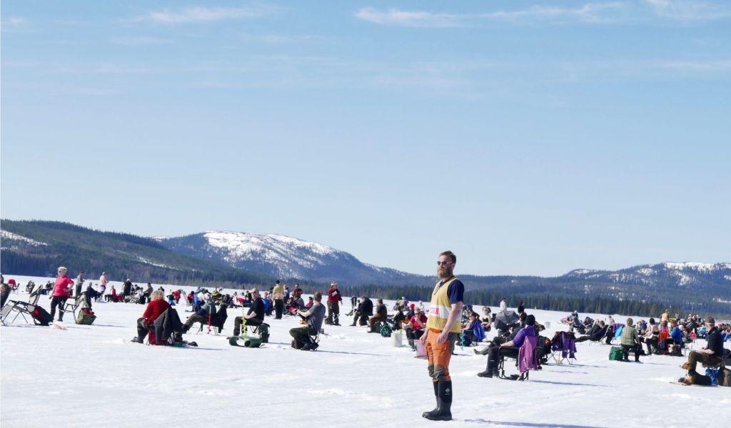Fisketävling på isen