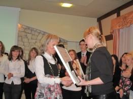 Dyrektor naszej szkoły odbiera dyplom Szkoły Liderów Przedsiębiorczości