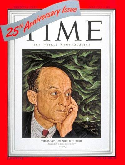 Reinhold Niebuhr pe coperta revistei Time (1948)