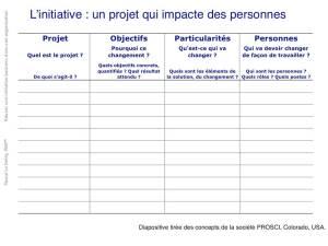 La fiche Projet-Objectifs-Particularités-Personnes, pour évaluer l'impact de l'initiative