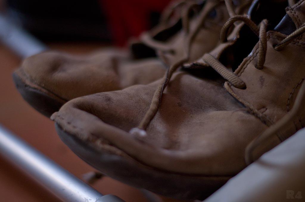Moi mes souliers ont beaucoup voyagé