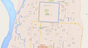 Plan en dameier ville Mandalay