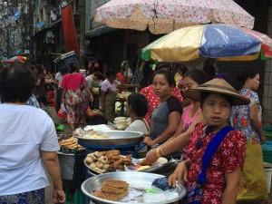 Yangon marché local