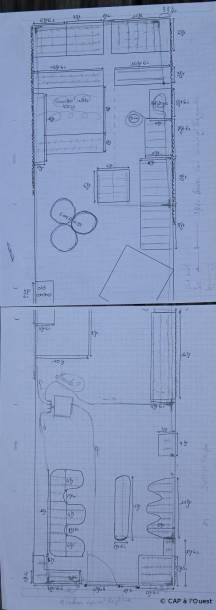 Plan du jardin avec dessin