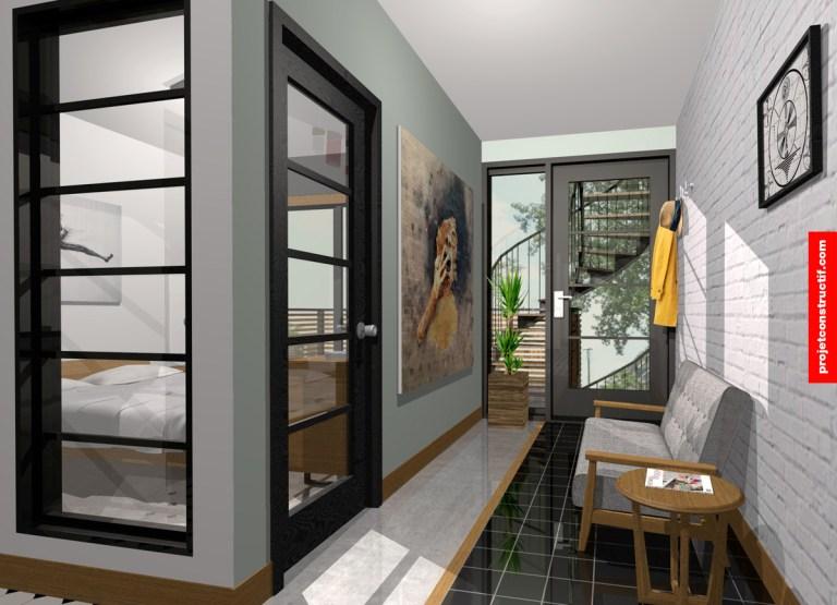 Design intérieur espace de fond Interior design of back entry
