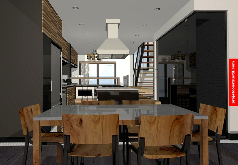 Rénovation sous-sol Illustration 3D sous-sol • 3D Illustration of basement