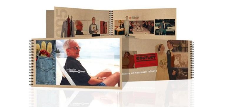 Design graphique. Illstration montrant une grande carte personnalisée. Image showing a custom thematic booklet