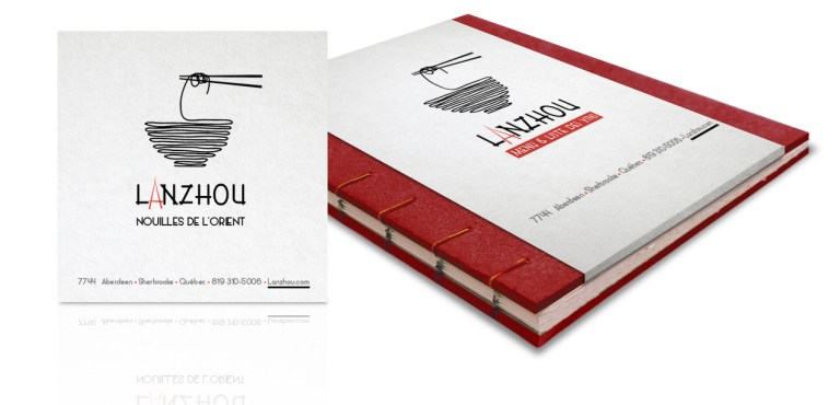 Design graphique. Image illustrant logo, carte d'affaires et menu. Image showing logo, business cards and restaurant menu