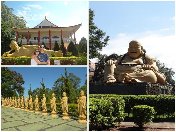 Templo budista e suas estátuas