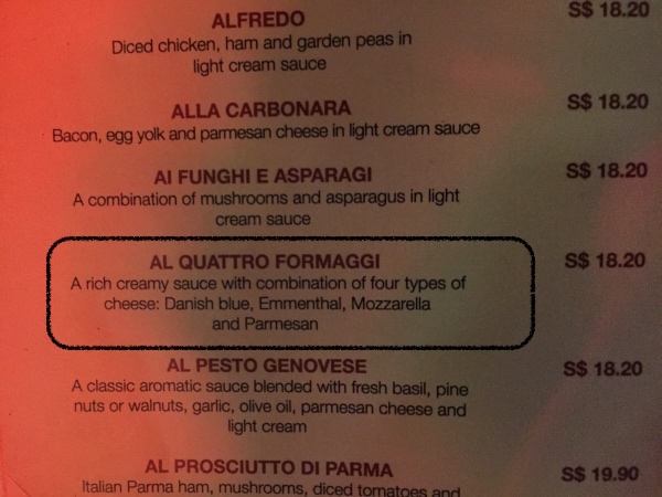 Cardapio Pasta Fresca da Salvatore