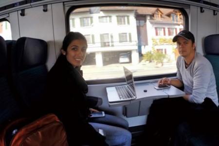 Viagem de trem de Zurique a Genebra