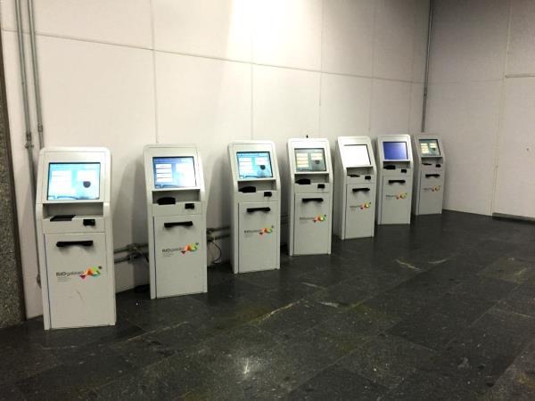 Maquinas Check in Alitalia