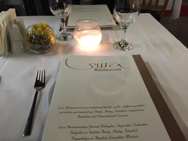 Menu Sura Restaurant