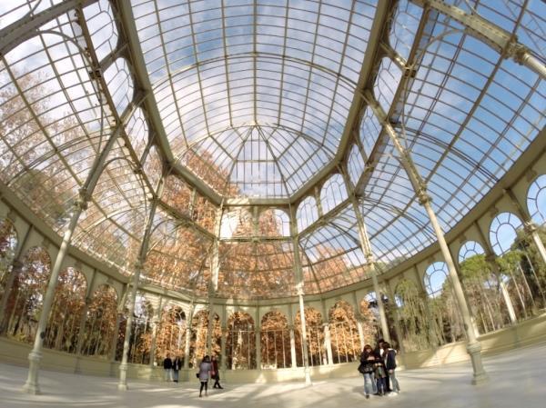 Dentro do Palacio de Cristal