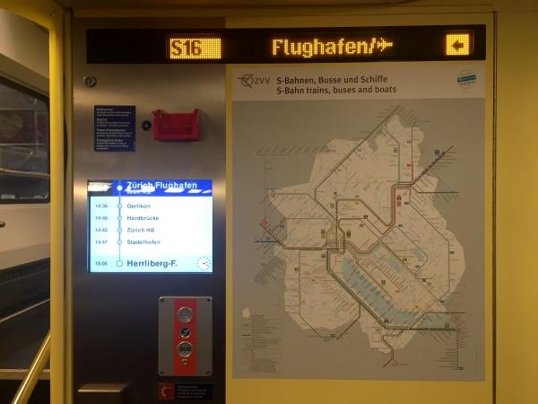 Dentro Metro Aeroporto Zurique