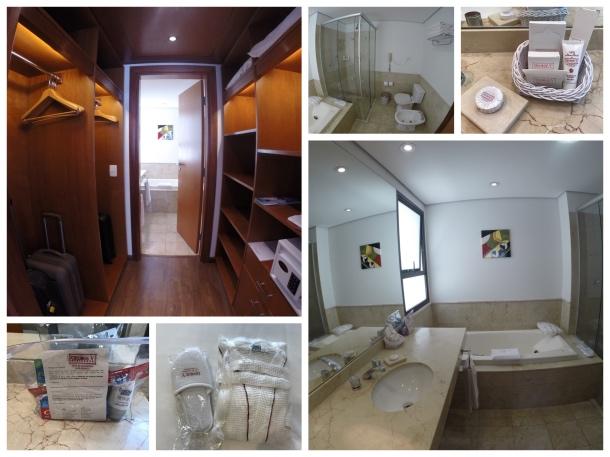 Closet e banheiro hotel George V Casa Branca