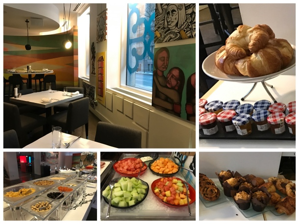 Café da manhã do hotel W Montreal