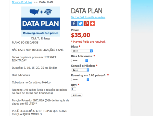 Data Plan da easysim4u