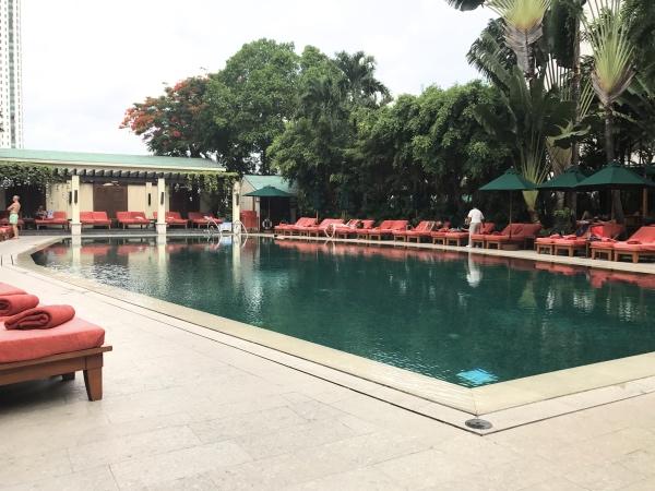 Piscina do Mandarin Oriental Bangkok