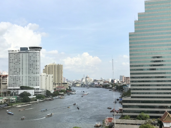 Vista do quarto Mandarin Oriental Bangkok
