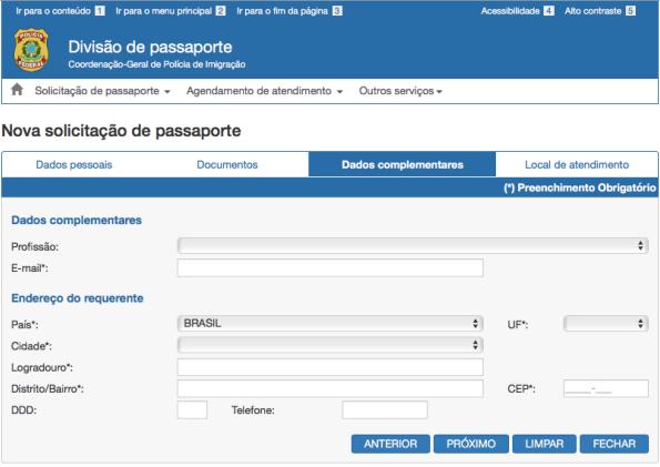 Solicitar passaporte