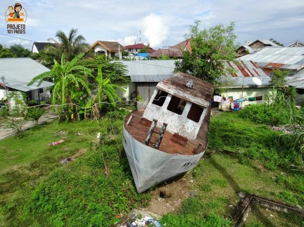 Banda Aceh barco arrastado pelo tsunami