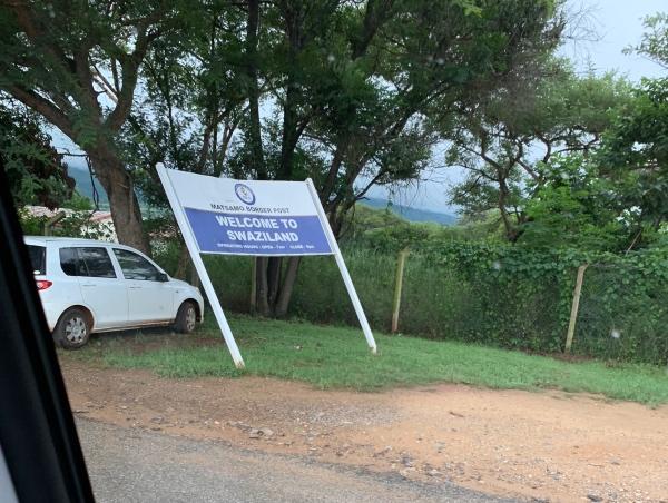 Fronteira da Suazilandia e Africa do Sul
