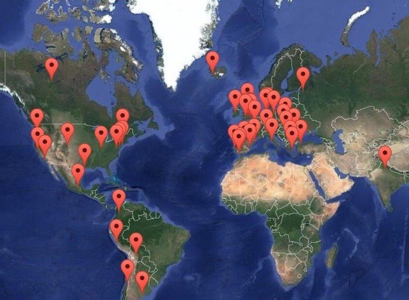 Mapa reúne som dos protestos por quase todas as partes do mundo