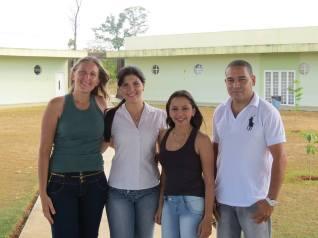 Equipe Organizadora do Projeto: Lucinéia, Professora Juliana, Eveley, Arnaldo