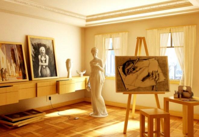 artists-studio-creative-spaces-inspirational-rooms-582x436