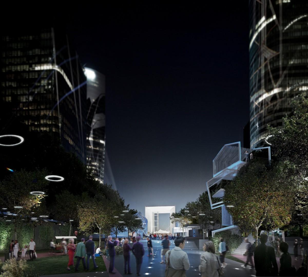 defense parvis grande arche 1200x1077 Le futur des espaces publics à La Défense en 2020 : toutes les images