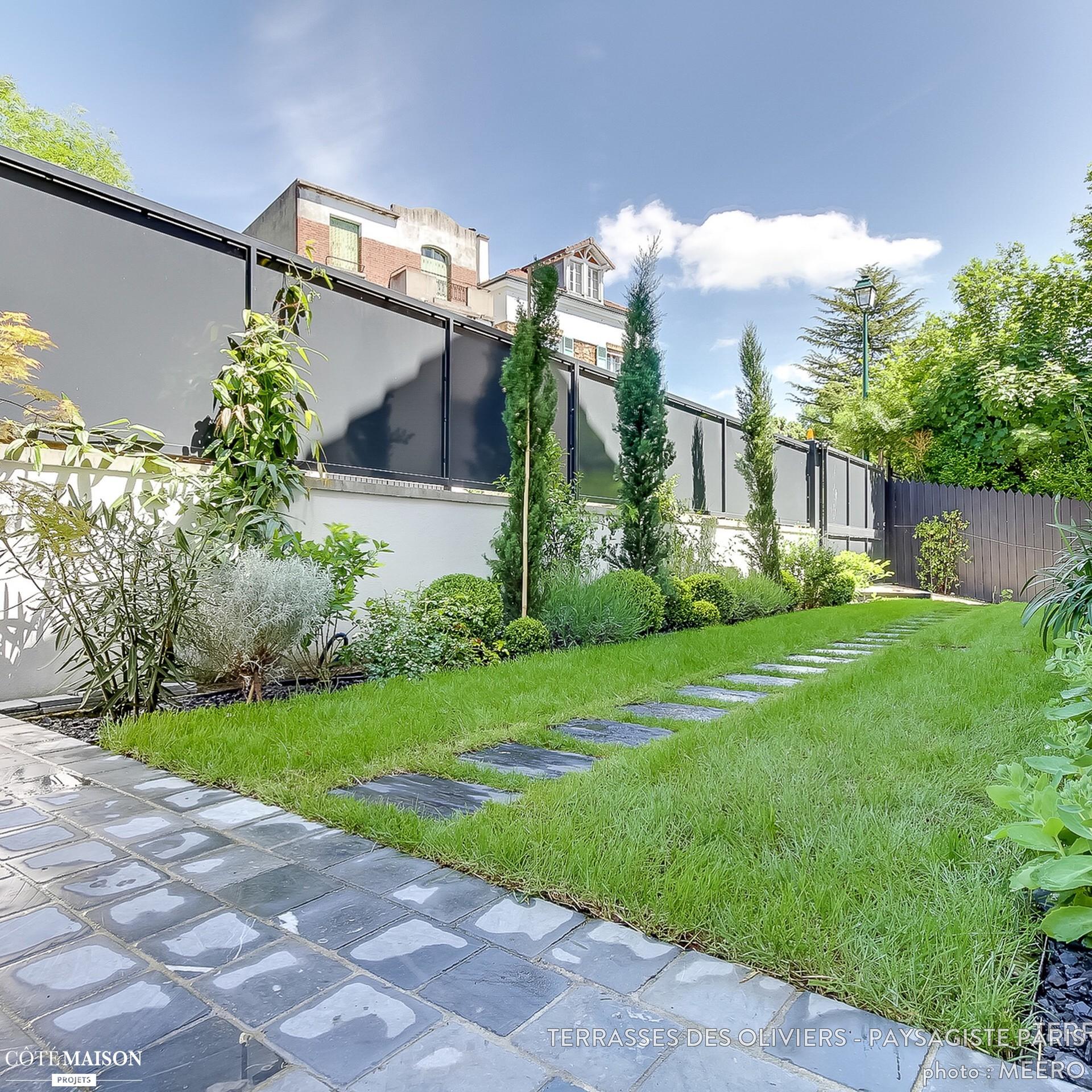Un Jardin Graphique Et Contemporain Terrasses Des