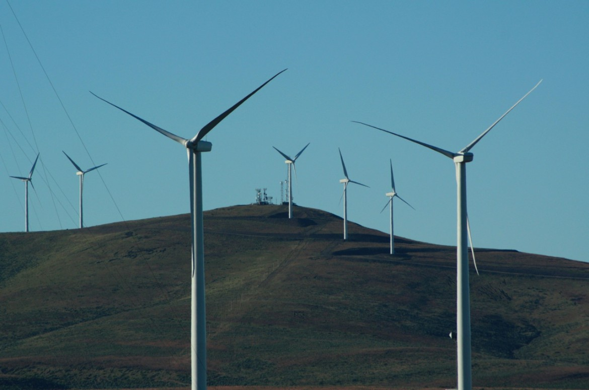 The Wild Horse Wind Farm, located atop the ridges of eastern Washington's Whiskey Dick Mountain, is one of three large wind power facilities owned by Puget Sound Energy.