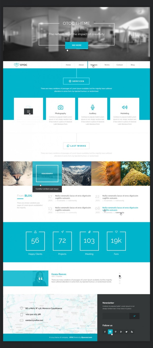 OTOC-Free-Website-Template