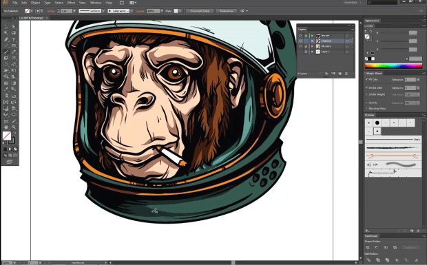 Adobe-Illustrator-Tutorial-How-to-Draw-an-Astrochimp
