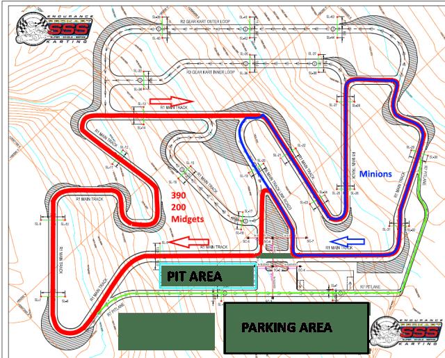 Prokart SSS Formula K Track Layout
